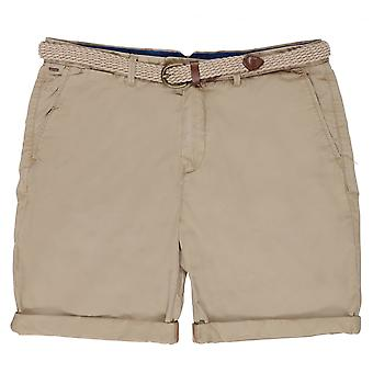 Scotch & Soda Belted Pima Cotton Shorts,Colour 06  Sand
