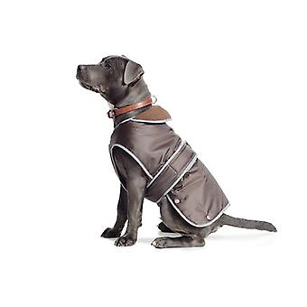 Stormguard cioccolato marrone impermeabile cane cappotto - Medium