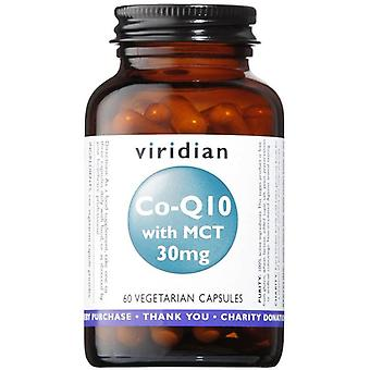 Viridian Co-enzyme Q10 30mg with MCT Veg Caps 60 (361)