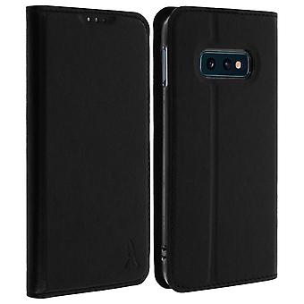 Galaxy S10e Case Card Holder Case Silicone Stand Stand Akashi Black