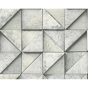 A.S. Creation AS Creation Stone Effect Wallpaper Triangle Square Pattern Realistic Textured 306502