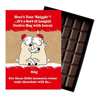 Funny Christmas Gift for Husband or Civil Partner Boxed Chocolate Xmas Present for Men XMS103