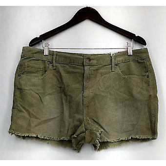 Mossimo Shorts High Rise Corduroy w/ Poches Green Womens