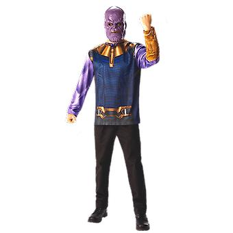 Vuxen Thanos Infinity War topp och mask fancy dress kostym