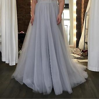Floor Length Layers Tulle Prom Skirt Maxi