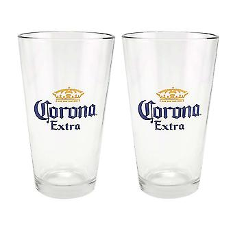 Corona Extra 2 Pack Pint glasögon