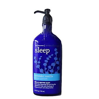 Bath & Body Works Aromatherapy Sleep Lavender Vanilla Body Lotion 6.5 oz / 192 ml (Pack of 2)