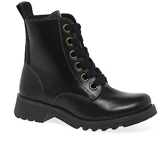 Fly London Ragi Womens Military Style Boots