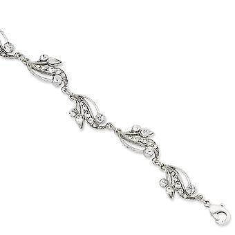 Zilver toon Fancy Lobster Sluiting Crystal 7inch Met Ext Bracelet Sieraden Geschenken voor vrouwen