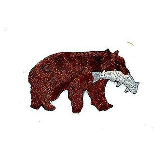 التصحيح Ecusson برود Thermocollant حقيبة ظهر الدب جريزلي راكب الدراجة النارية