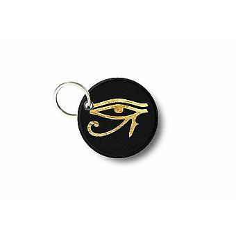 Porte Cle Cles Clef Brode Patch Ecusson ilHorus Franc Macon Masonic Eye