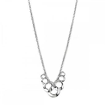 Beginnings Sterling Silver Open Disc Cluster 41+5cm Necklaces N2932