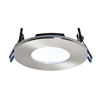 Saxby Lighting Orbitalplus Fire Rated Integrated LED 1 Light Bathroom Recessed Light Satin Nickel Plate IP65 69884