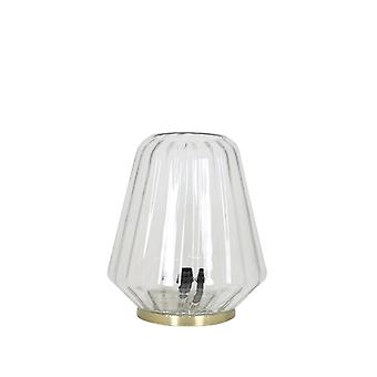 Light & Living Table Lamp Antique Guido Clear Glass Modern Table Lamp