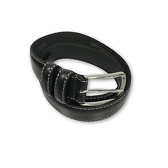 Leather Island leather belt in black