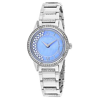 Bulova Women's TurnStyle Blue Mother of Pearl Dial Watch - 96L260