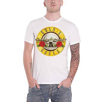 Guns N Roses T Shirt Classic Pistols Band Logo new Official Mens White