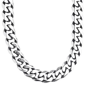 Iced Out Stainless Steel Tank Chain - CUBAN 13mm