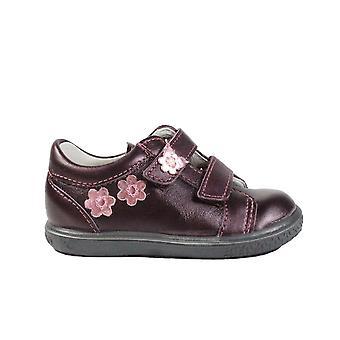 Ricosta Niddy 2523100-361 Merlot Burgundy leer meisjes RIP tape casual trainer schoenen
