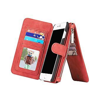 Kotelo iPhone 8 Plus / 7 Plus punainen monitoimisalkku