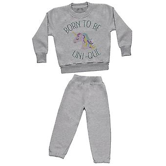 Born To Be Uni-que - Sweatshirt with Grey Joggers - Baby / Kids Outfit