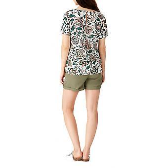 Sugarhill Boutique Women's Zia Tropical Floral Tie Front Tee Top