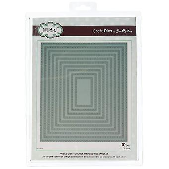 Creative Expressions Sue Wilson Noble Collection - Double Pierced Rectangles Cutting Dies CED5508
