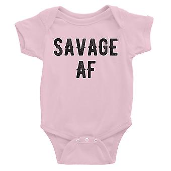 365 Printing Savage AF Baby Bodysuit Gift Pink Funny Saying Baby Jumpsuit Gift