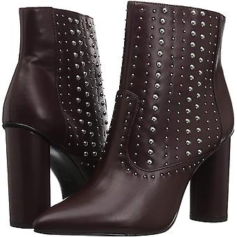 BCBGeneration Women's Hollis Studded Bootie Ankle Boot, Burgundy, 9 M US