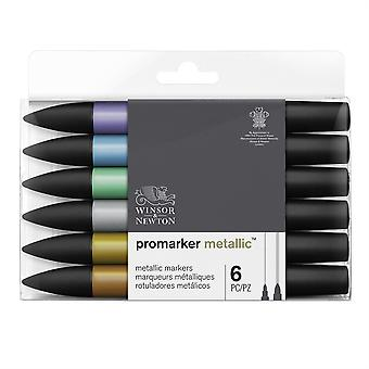 Winsor & Newton Promarker Metallic Set of 6 Colours