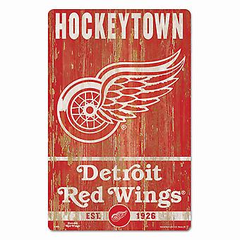 Wincraft NHL Holzschild SLOGAN Detroit Red Wings 43x28cm