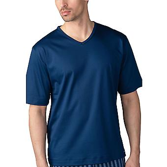 Mey Men 20710-664 Men's Lounge Neptune Blue Cotton Pyjama Top
