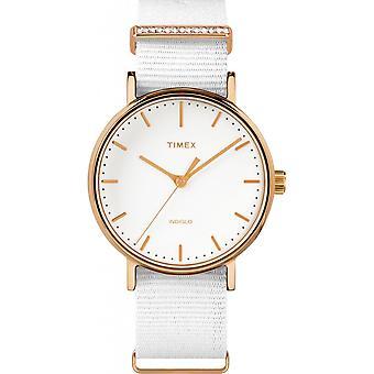 Timex TW2R49100D7 watch - ur krystaller stof hvid kvinde