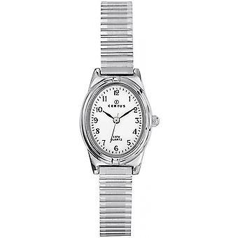 Sjekk Certus 641339-Dateur Steel sølv Dial hvite kvinner