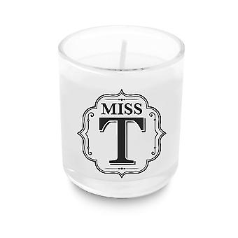 Heart & Home Alphabet Votive Candle - Miss T