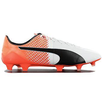 بوما evoSPEED 1.5 FG 103597-05 أحذية كرة القدم للرجال أحذية رياضية بيضاء أحذية رياضية