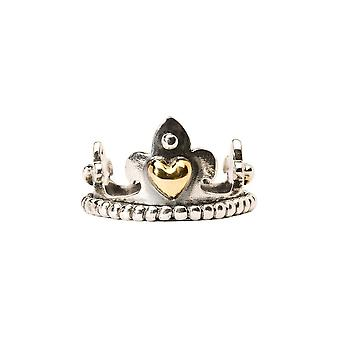 Trollbeads Silver & Gold Crown Ring