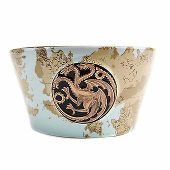 Game Of Thrones Bowl Targaryen House Sigil Westeros Map new Cereal Official