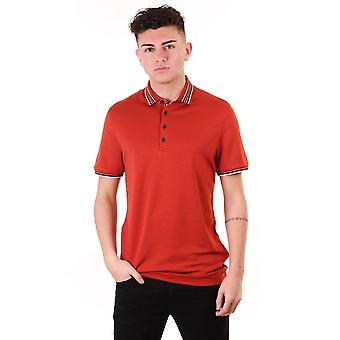 Ted Baker Mens Teacups Ss Polo With Striped Collar