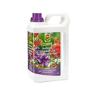 COMPO Surfinia, Gerania and Pelargonium Fertilizer, 3 litres