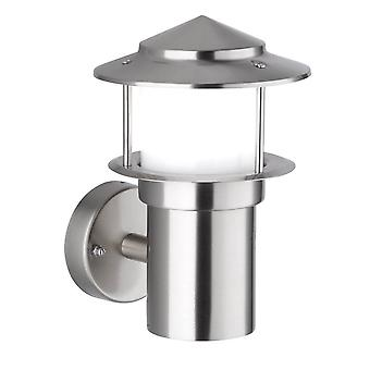 WOFI Salerno Contemporary Outdoor Wall Light In Stainless Steel Finish Ip44 4089.01.97.7000