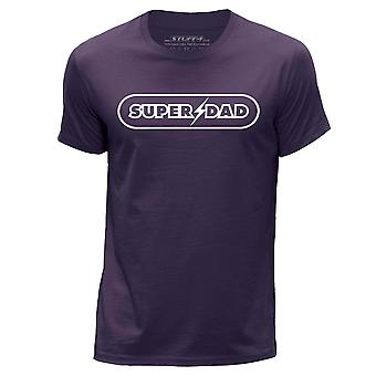 STUFF4 Hombres's Round Neck Camiseta/Super Papá/Purple