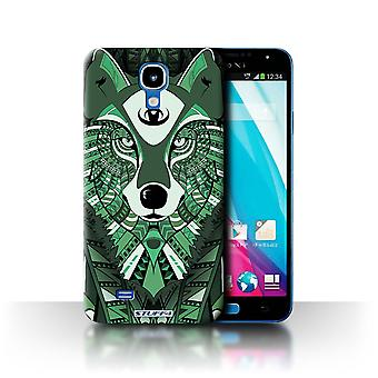 STUFF4 Case/Cover for Samsung Galaxy J/N075T/Wolf-Green/Aztec Animal