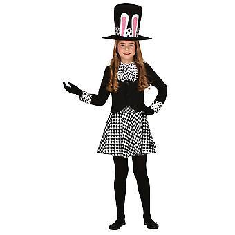 Meisjes Crazy Hat Girl Fancy Dress Kostuum Mad Hatter
