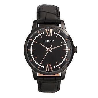 Bertha Prudence reloj de cuero-banda - Negro