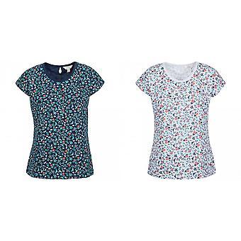 Trespass Womens Charlene Floral Cap Sleeved T Shirt