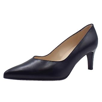 Peter Kaiser Nura Classic Court Shoes In Navy Leather