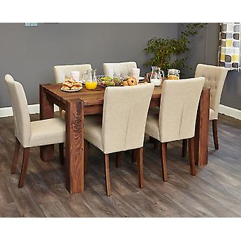 Walnut 150cm Dining Table (4/6 Seater) Brown - Baumhaus