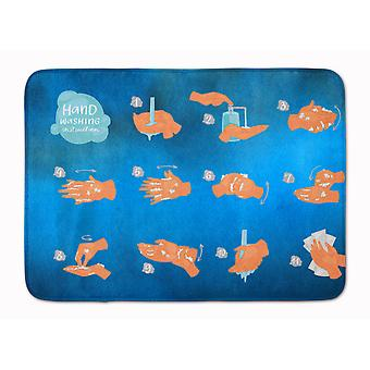 Hand Washing Instructions Machine Washable Memory Foam Mat