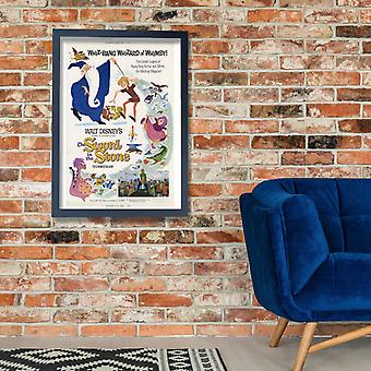 Walt Disney The Sword In The Stone Film Poster Print Giclee